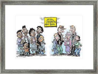 National Conversation About Race Framed Print