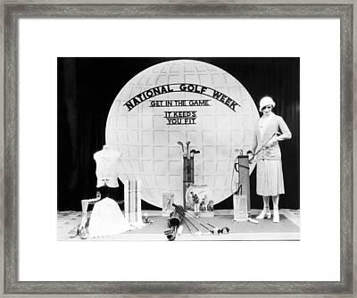 National Golf Week Display Framed Print by Underwood Archives