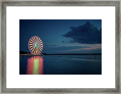 National Harbor Ferris Wheel Framed Print