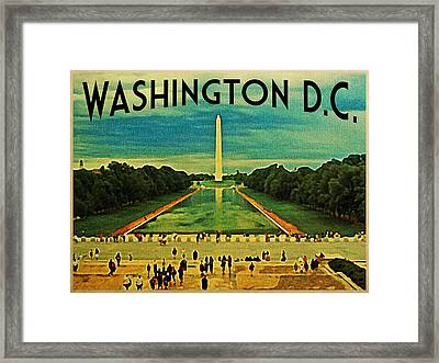 National Mall Washington D.c. Framed Print by Flo Karp
