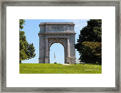 National Memorial Arch Valley Forge Framed Print