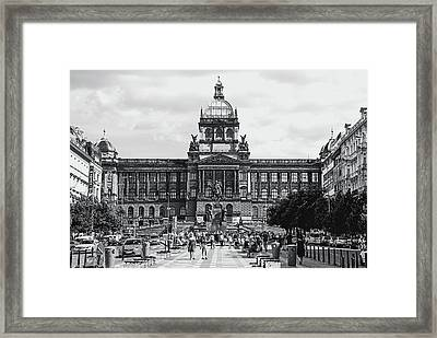 Framed Print featuring the photograph National Museum At Wenceslas Square. Prague by Jenny Rainbow