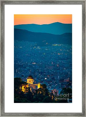 National Observatory Of Athens Framed Print by Inge Johnsson