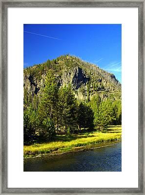 National Park Mountain Framed Print by Marty Koch