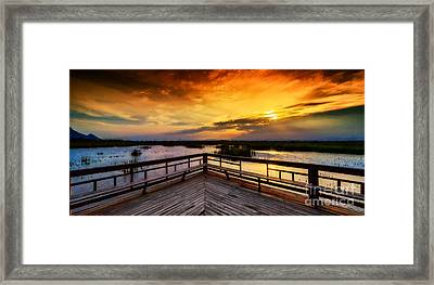 National Park Sunset Framed Print