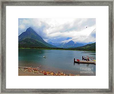 National Parks. Serenity Of Mcdonald Framed Print