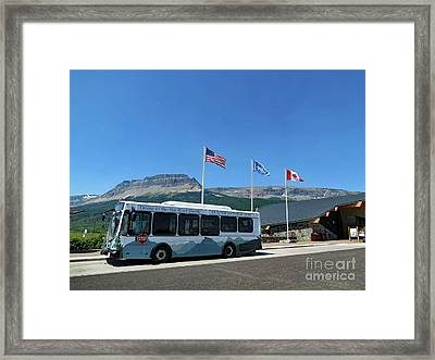 Framed Print featuring the photograph National Parks. St. Mary Visitor Center At Glacier by Ausra Huntington nee Paulauskaite