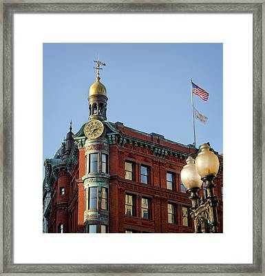 Framed Print featuring the photograph National Savings And Trust Company by Greg Mimbs