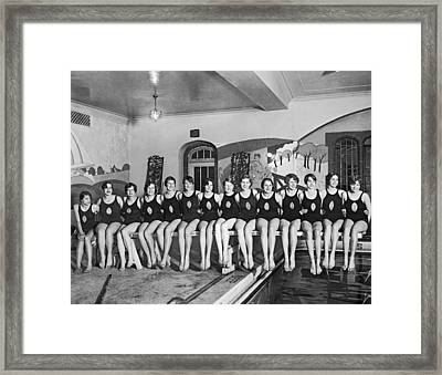 National Swimming Champions Framed Print by Underwood Archives