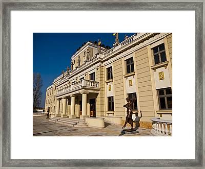National Theater In Skopje Framed Print by Rae Tucker