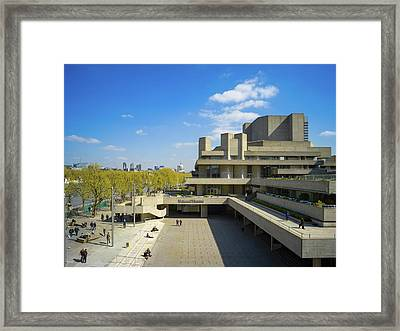Framed Print featuring the photograph National Theatre by Stewart Marsden
