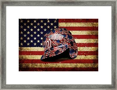 Nationals Batting Helmet Framed Print