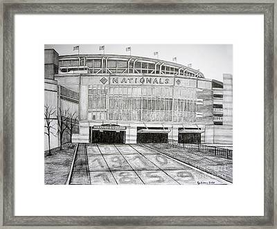 Nationals Park Framed Print by Juliana Dube