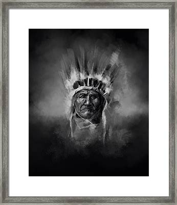 Nativ American Chief-geronimo Framed Print