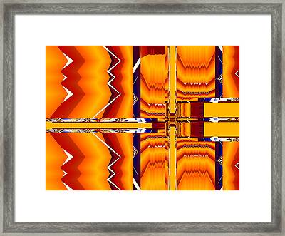 Framed Print featuring the digital art Native Abstract by Fran Riley