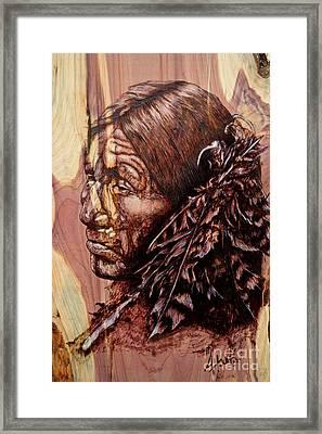 Native Framed Print by Amanda Hukill