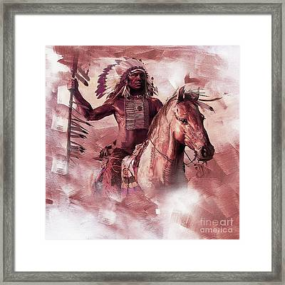 Native American 00932 Framed Print by Gull G