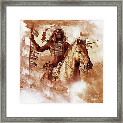 Native American 093201 Framed Print by Gull G