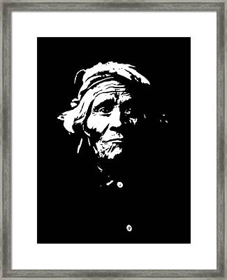 Native American 1 Curtis Framed Print