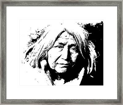 Native American 10 Curtis Framed Print by David Bridburg