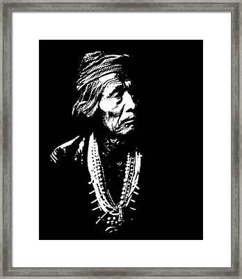 Native American 13 Curtis Framed Print by David Bridburg