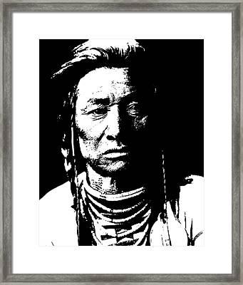 Native American 15 Curtis Framed Print by David Bridburg