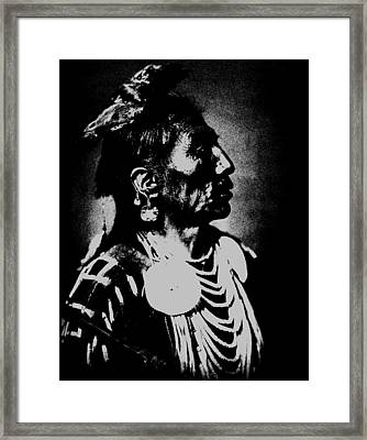 Native American 2 Curtis Framed Print