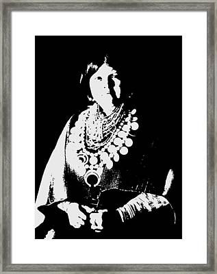 Native American 21 Curtis Framed Print by David Bridburg