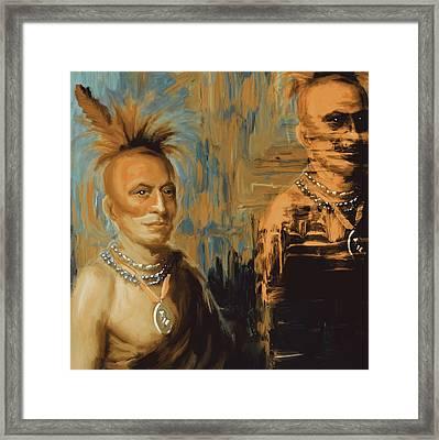 Native American 273 2 Framed Print by Mawra Tahreem
