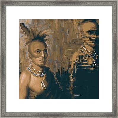 Native American 273 4 Framed Print by Mawra Tahreem