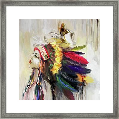 Native American 274 1 Framed Print by Mawra Tahreem