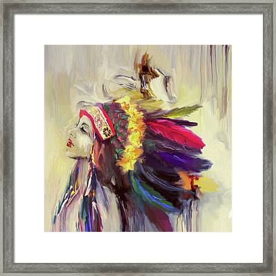 Native American 274 3 Framed Print by Mawra Tahreem