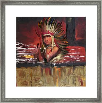 Native American 277 1  Framed Print by Mawra Tahreem