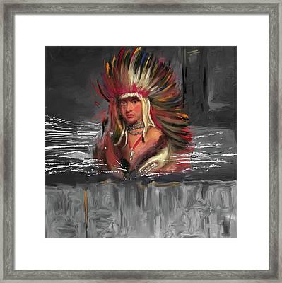 Native American 277 3 Framed Print by Mawra Tahreem