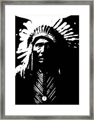 Native American 6 Curtis Framed Print by David Bridburg