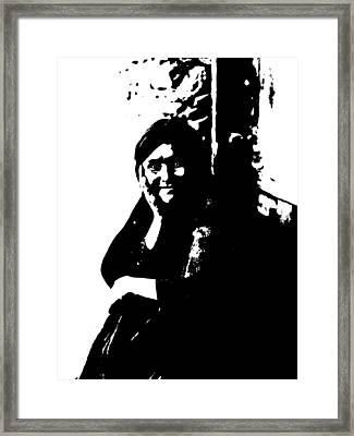 Native American 9 Curtis Framed Print by David Bridburg