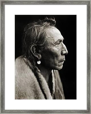 Native American Aki-tanni Two Guns Framed Print by Jennifer Rondinelli Reilly - Fine Art Photography