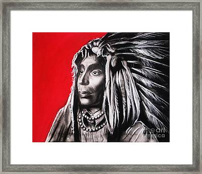 Native American Framed Print by Anastasis  Anastasi