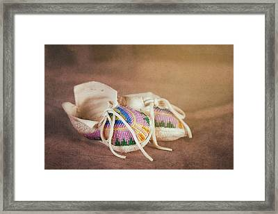 Native American Baby Shoes Framed Print by Tom Mc Nemar