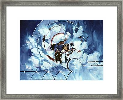Native American Blue Spirit Framed Print