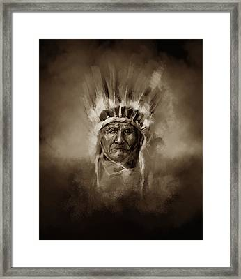 Native American Chief-geronimo 3 Framed Print
