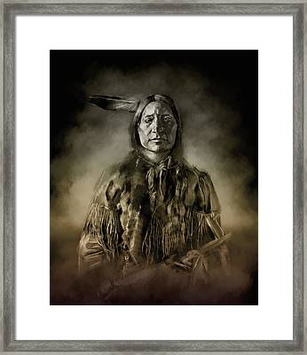 Native American Chief-scabby Bull 2 Framed Print