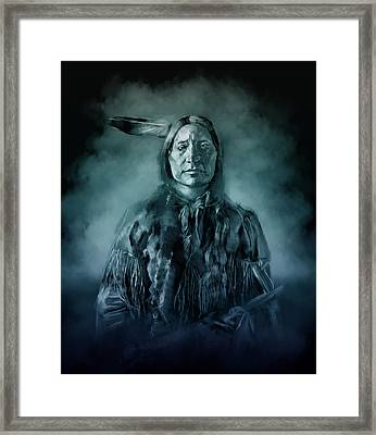 Native American Chief-scabby Bull 3 Framed Print