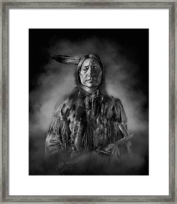 Native American Chief-scabby Bull Framed Print