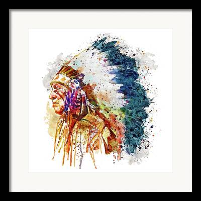 Colorful American Indian Framed Prints