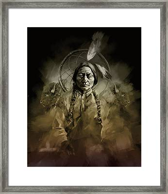 Native American Chief-sitting Bull 2 Framed Print