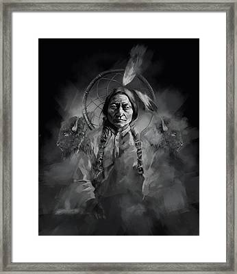 Native American Chief-sitting Bull 3 Framed Print