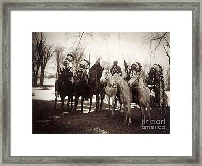 Native American Chiefs Framed Print by Granger