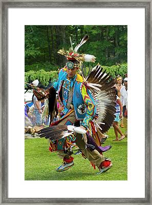 Native American Dancer Framed Print