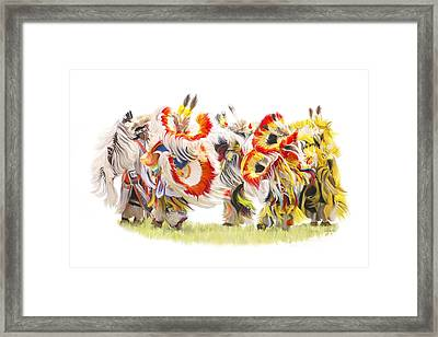 Native Color In Motion Framed Print